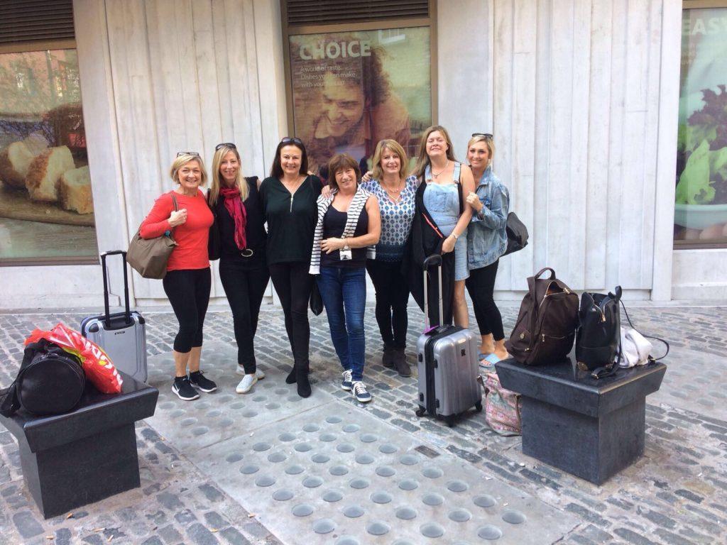 Hannah, Amanda, Marie, Jacqui, Laura, Jaki & Mandy, the morning after! Shine 2017